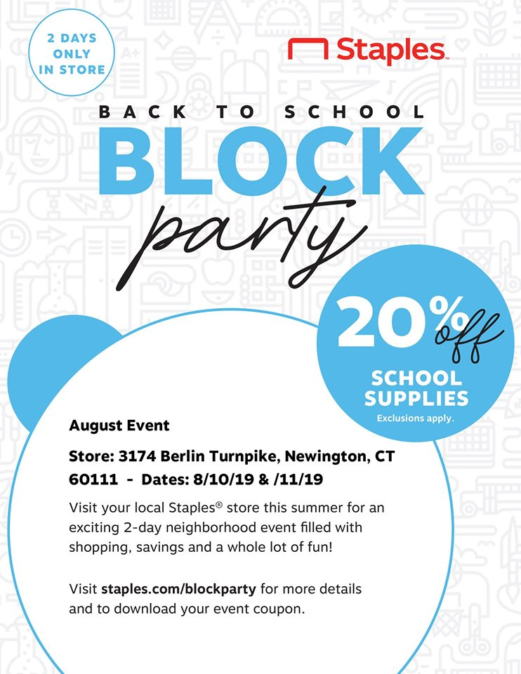 Back To School Block Party at Staples!