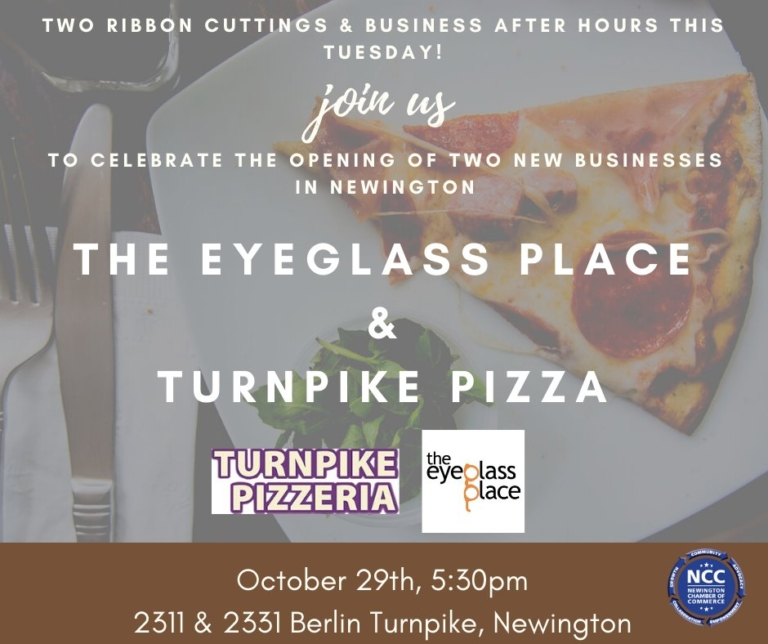 Turnpike Pizza & The Eyeglass Place – Double Ribbon Cuttings