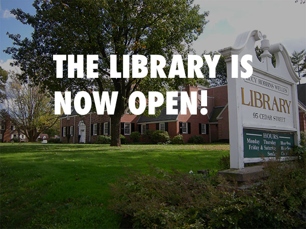 Lucy Robbins Welles Library is now open!