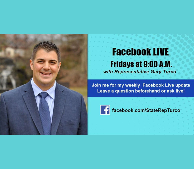 Gary Turco Live on Facebook Fridays at 9:00am