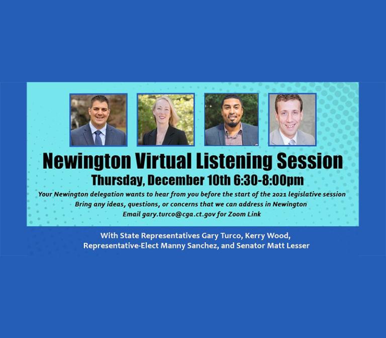 Newington Virtual Listening Session 12/10 6:30pm