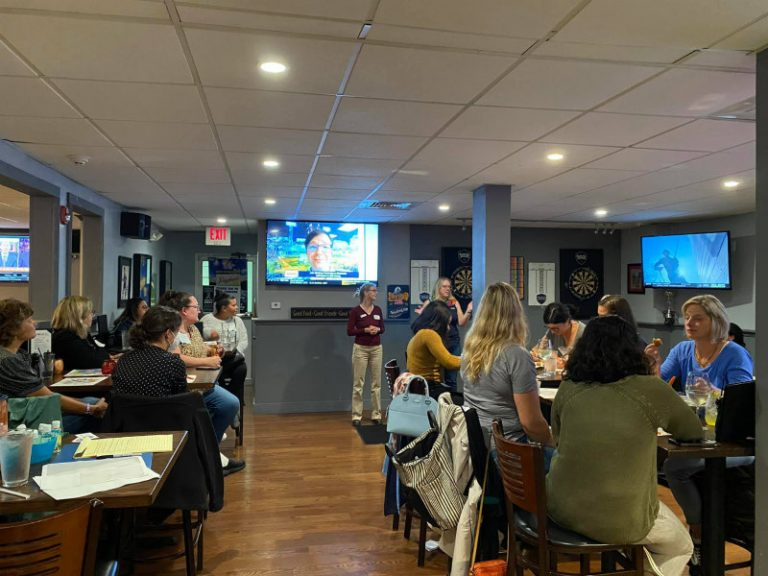 Coloring and Cocktails in Newington
